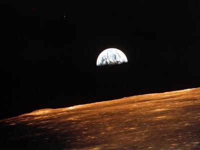 View of Earth from Apollo 10 Orbiting the Moon, 1969