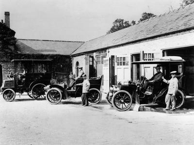 Cars Parked at Lord Northcliffe's Stable