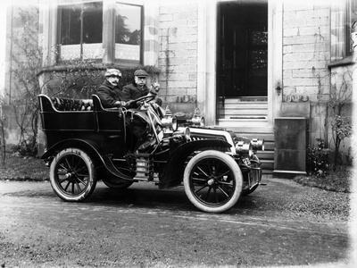 Two Men in a De Dion Bouton Car, C1904
