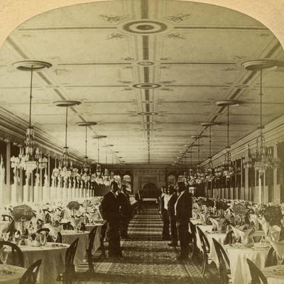 Dining Room, Grand Union Hotel, Saratoga, New York, Usa