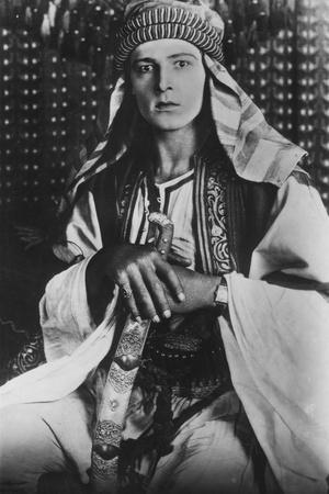 Rudolph Valentino (1895-192) in the Sheikh, 1921