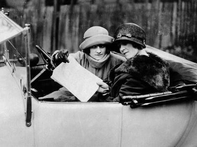 Two Women in an 11.9 Hp Calcott, C1922