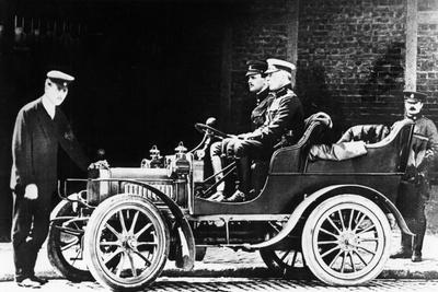 Charles Rolls at the Wheel of a 1904 Royce Car, C1904