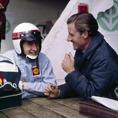 Jackie Stewart and Graham Hill Chatting, Monaco Grand Prix, Monte Carlo, 1966