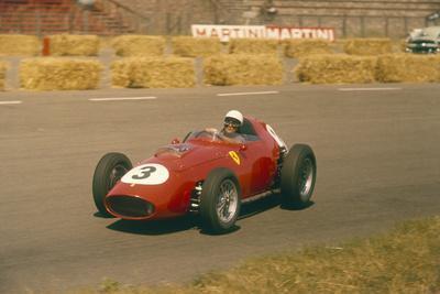 Phil Hill in Action in a Ferrari, Dutch Grand Prix, Zandvoort, 1959