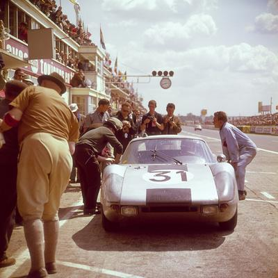A Porsche 904/4 Gts in the Pits, Le Mans, France, 1964