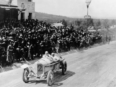 Christian Lautenschlager Passing the Tribunes, in the Targa Florio Race, Sicily, 1922