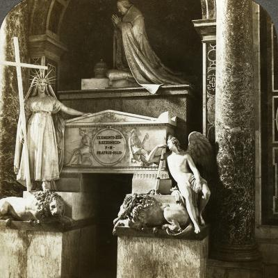 Tomb of Pope Clement XIII, St Peter's Basilica, Rome, Italy