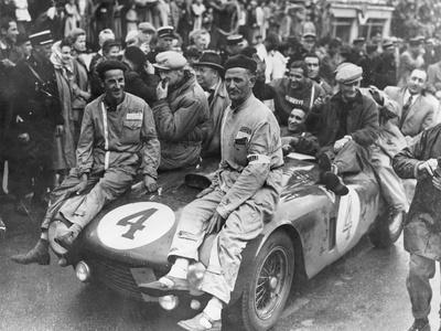 The Victorious Ferrari of Froilan Gonzalez and Maurice Trintignant, Le Mans 24 Hours, France, 1954
