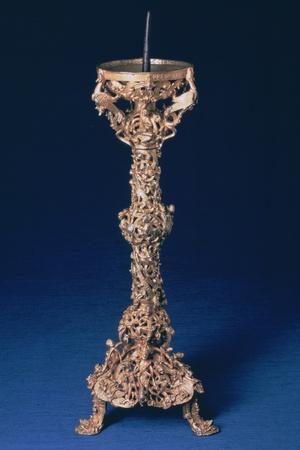 The Gloucester Candlestick, Gilt-Bell Metal, English, 12th Century