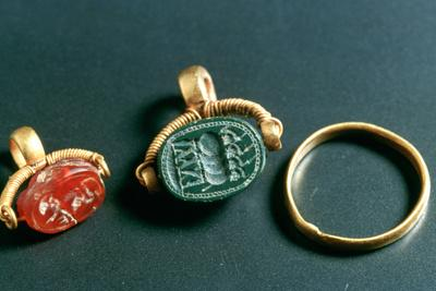 Rings with Inscription, Jewelery, Tunisia, C3rd-4th Century