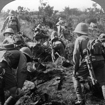 Scouts Making their Way Through the Forests of East Africa, World War I, 1914-1918