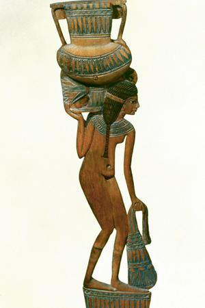 Spoon in the Form of a Young Girl Carrying a Vase, 18th Dynasty