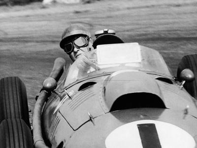 Peter Collins in a Ferrari