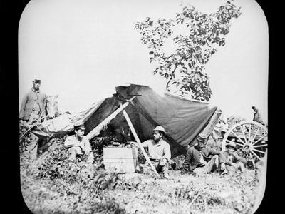 One of General Grant's Union Field Telegraph Stations During the American Civil War, 1861-1865