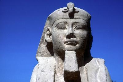 Closeup of Sphinxs Head, Temple Sacred to Amun Mut and Khons, Luxor, Egypt, C370 Bc