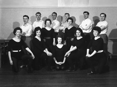 Wombwell Operatic Society Group Photograph, South Yorkshire, 1961