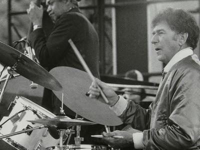 Slam Stewart and Shelly Manne on Stage at the Capital Radio Jazz Festival, London, 1979