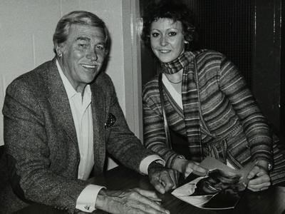 Howard Keel after His Concert at the Forum Theatre, Hatfield, Hertfordshire, 14 May 1983