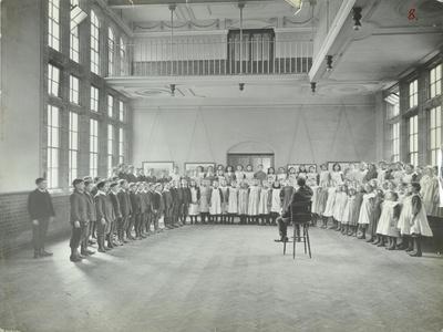 Singing Lesson, Jews Free School, Stepney, London, 1908