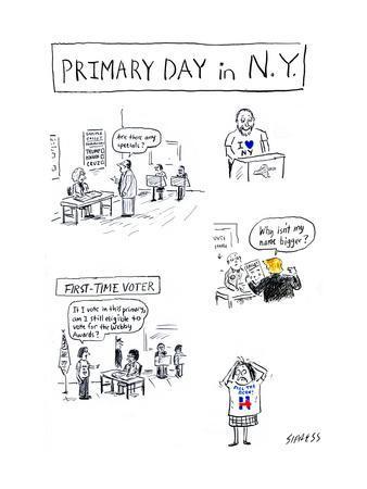 Primary Day in N.Y. - Cartoon