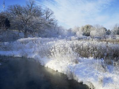 Scuppernong Creek in Winter Snow, Wisconsin, USA