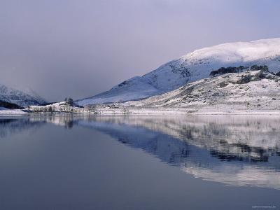 Loch Mullardoch, Glen Cannich, Winter in the Highlands, Scotland Upland Lochs, Snow, Lakes