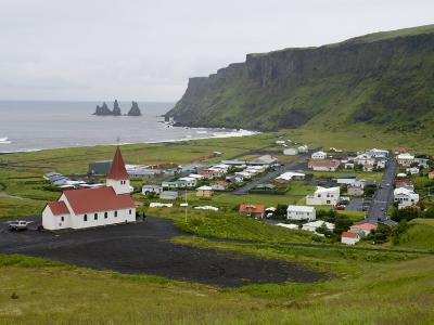 Town of Vik, South Coast of Iceland