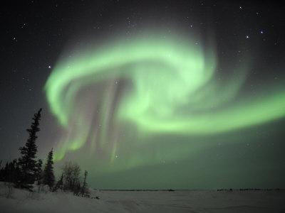 Northern Lights Northwest Territories, March 2008, Canada