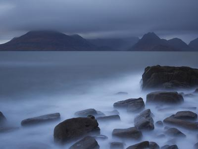 View Towards Cuillin Range from Elgol Beach. Skye, Scotland, October
