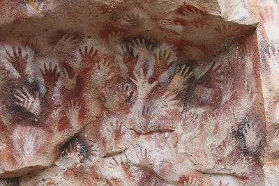Cave Hand Paintings, Dated to around 550 BC. Cueva De Las Manos, Argentina, March 2010