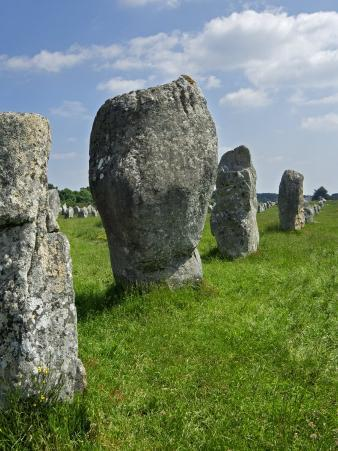Standing Stones in the Menec Alignment at Carnac, Brittany, France