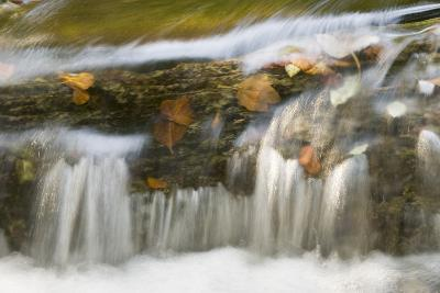 Small Cascade on Travertine, Galovac Barrier, Upper Lakes, Plitvice Lakes Np Croatia, October 2008