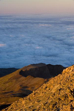 Crater of Pico Viejo - Chaorra Mountain (2,909M) from the Summit of Teide Volcano, Tenerife, Spain