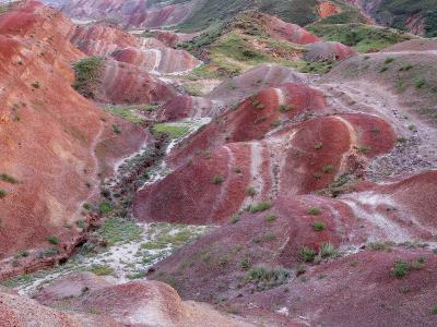 Colourful Rolling Hills Along the Border Region to Azerbaijan, David Gareji Nature Reserve, Georgia