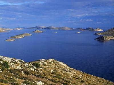 View from Levrnaka Island to the South, Kornati National Park, Croatia, May 2009
