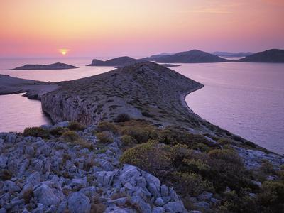 View from Mana Island at Sunset, Kornati National Park, Croatia, May 2009