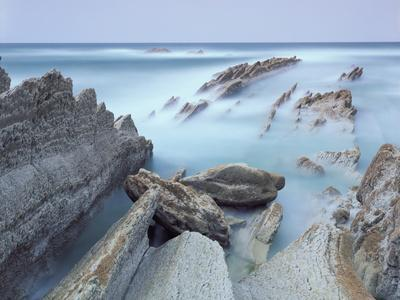Rock Formations on Atxabiribil Beach, Basque Country, Bay of Biscay, Spain, October 2008