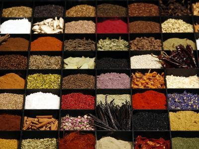 A Display of Spices Lends Color to a Section of Fancy Food Show, July 11, 2006, in New York City