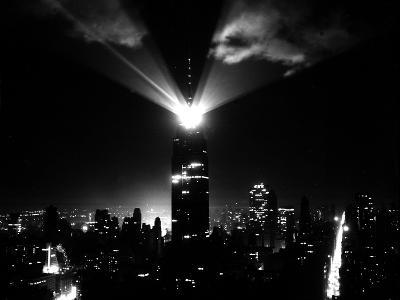 A New Beacon Lights Atop the Empire State Building