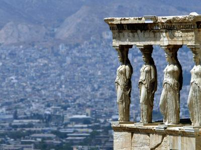A View of Modern Athens from the Ancient Acropolis Hill