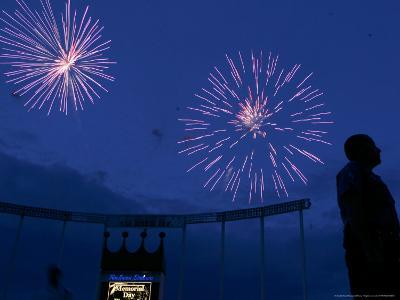 Fireworks at Kauffman Stadium, Kansas City, Missouri