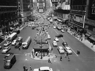This is an Aerial View of Times Square from the New York Times Newspaper Tower Building