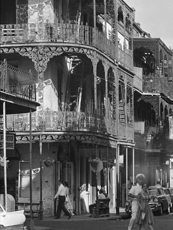 The Intricate Iron Work Balconies of New Orleans' French Quarter