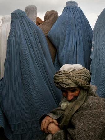 Waiting for Food and Blankets During Food Distribution by Coalition Forces in Kabul, Afghanistan