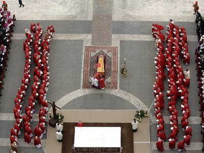 German Cardinal Joseph Ratzinger Conducts a Funeral Mass