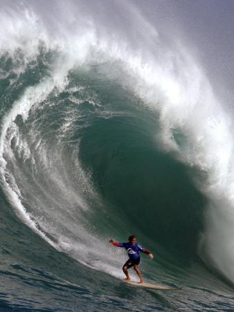 Big Wave Surfing, Waimea Bay, Hawaii