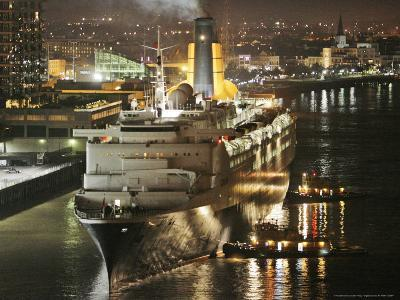 The Queen Elizabeth II Prepares to Dock at the Port of New Orleans, Mississippi River, c.2006