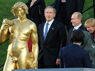 U.S. President George W. Bush, Russian President Vladimir Putin, Russian First Lady Lyudmila Putin