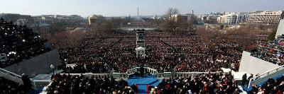 President Barack Obama Delivering His Inaugural Address, Washington DC, January 20, 2009